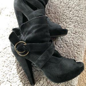 Peep toe platforms by Wild Diva